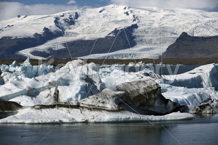 Floating Icebergs in Jokulsarlon Glacier Lagoon Iceland Photo #57134