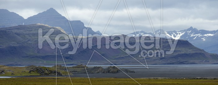 Mountains and Seashore of the Atlantic Ocean, Iceland. Photo #57124