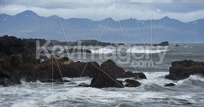 Mountains and Seashore of the Atlantic Ocean, Iceland. Photo #57127