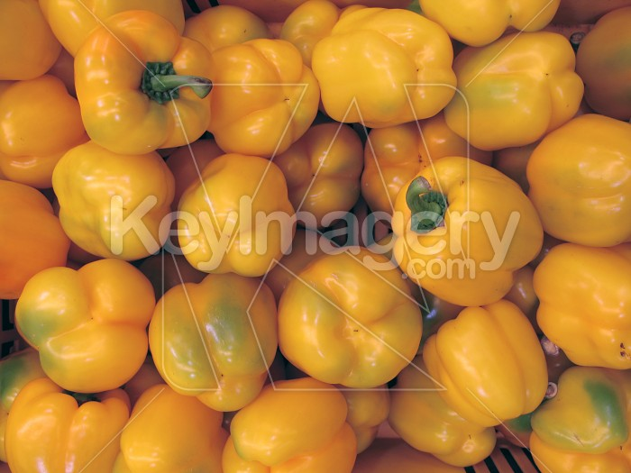 A bunch of yellow capsicums Photo #1755