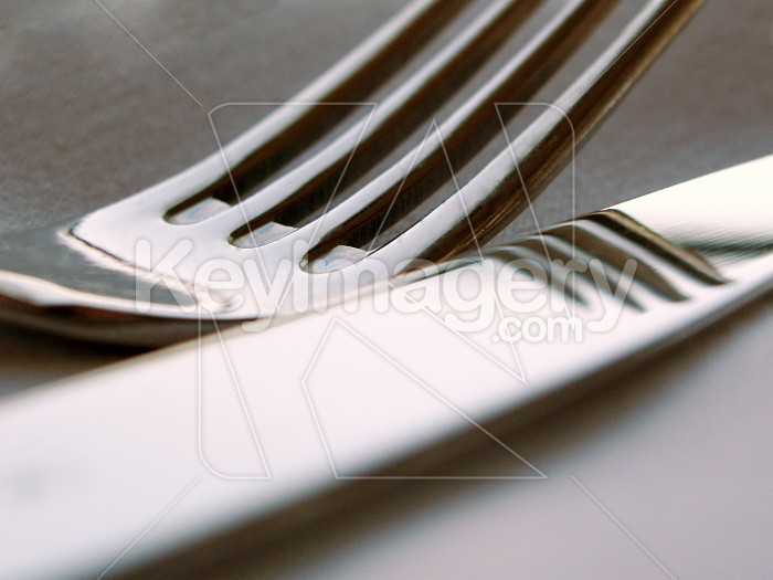 A knife and fork close up Photo #516