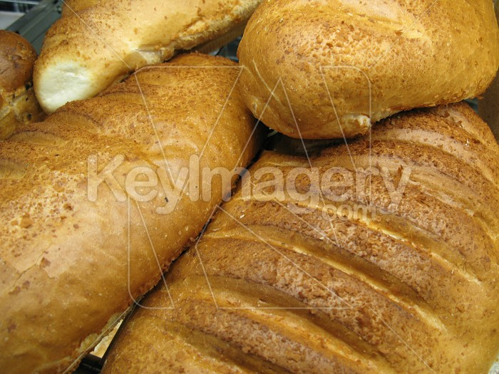 A pile of fresh bread loaves Photo #4944