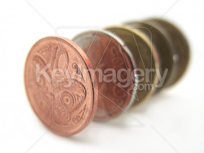 A stack of NZ coins Photo #2279
