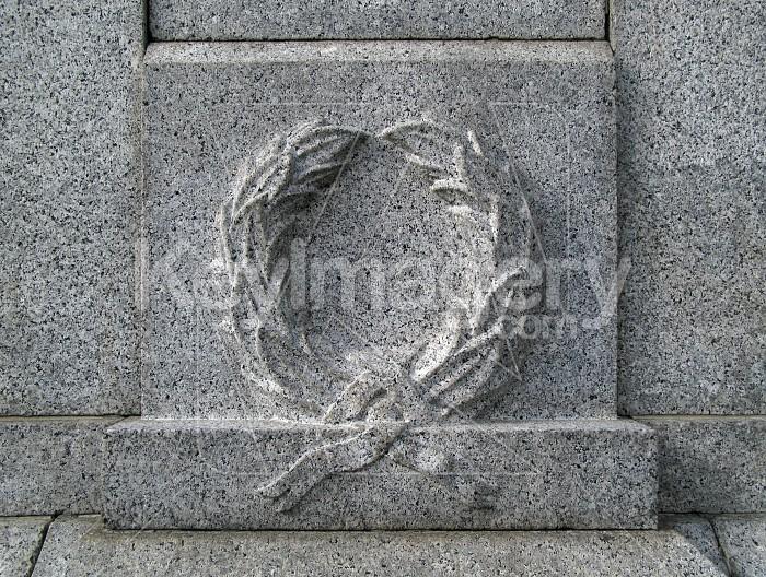 An ANZAC wreath in stone Photo #1554