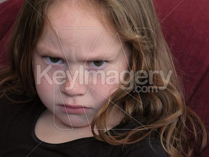Angry or upset young girl Photo #4764