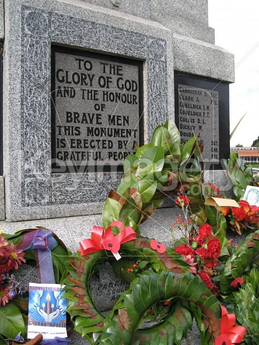 ANZAC wreaths on monument Photo #1481
