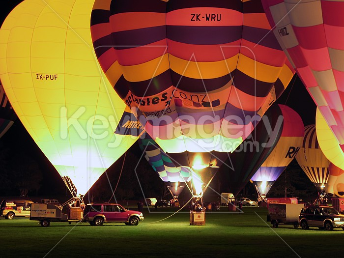 Balloons over Waikato Night Glow Photo #756