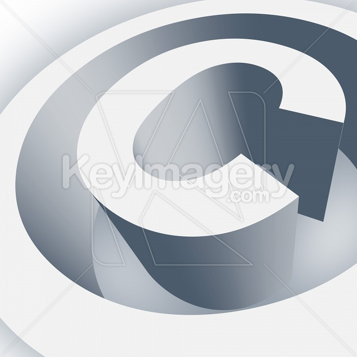 Big Copyright Symbol in 3D Photo #13027