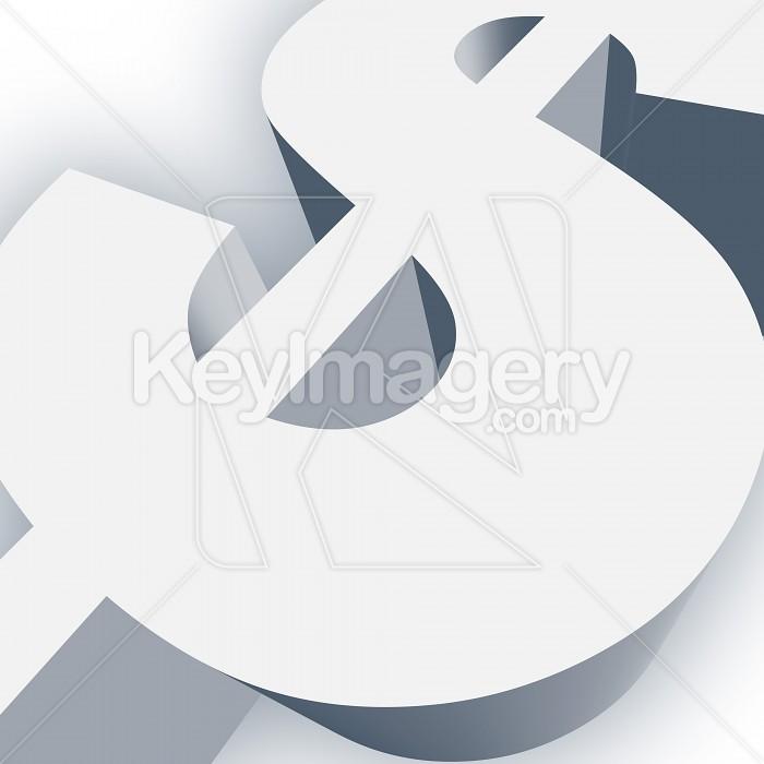 Big Dollar Sign Symbol in 3D Photo #13023