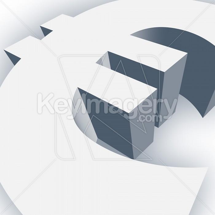 Big Euro Symbol in 3D Photo #13020