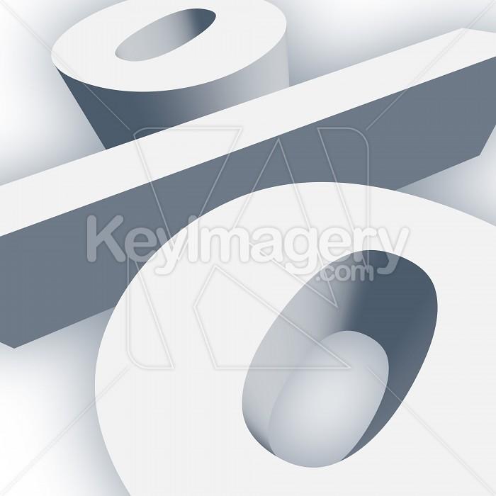 Big Percent Symbol in 3D Photo #13024