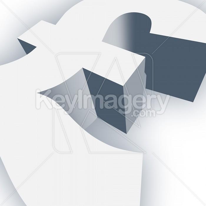Big Pound Symbol in 3D Photo #13028