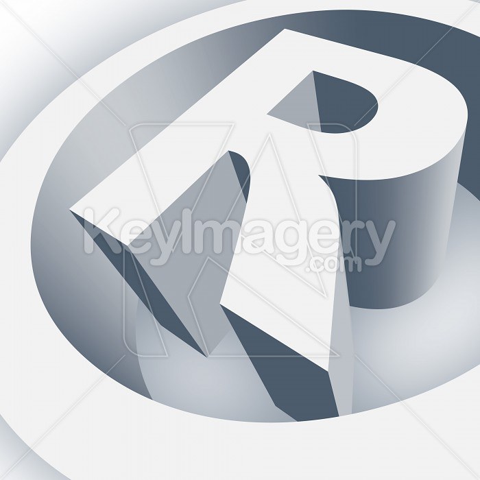 Big Registered Trademark Symbol in 3D Photo #13026