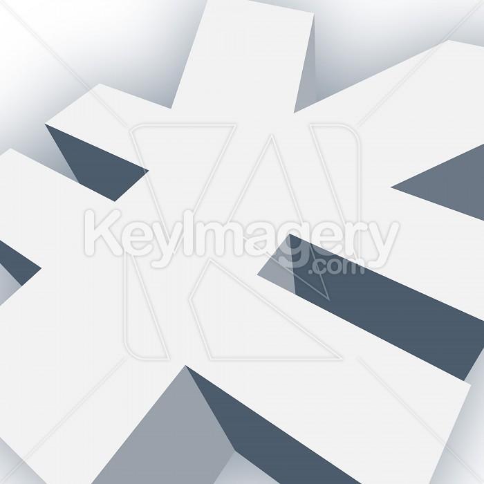 Big Yen Symbol in 3D Photo #13019