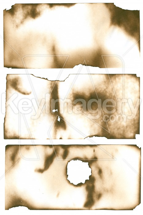 Burnt Pieces of Paper Photo #707