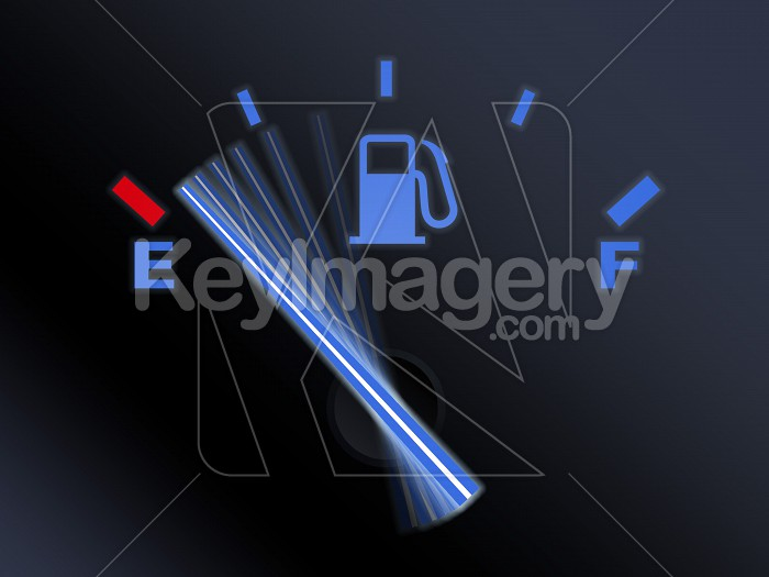 Car fuel gauge with needle moving to empty Photo #12200