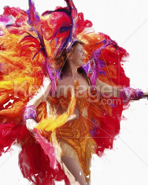 Carnival Dancer (oil painting) Photo #2539