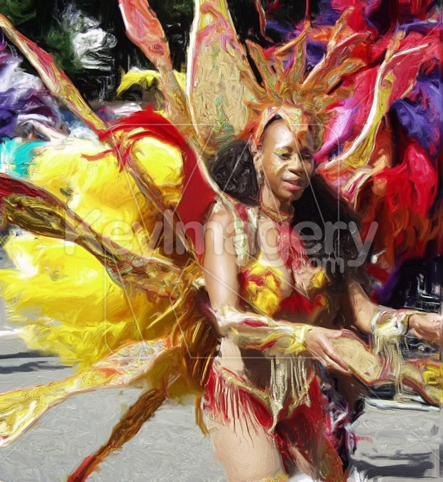 Carnival Dancer (oil painting) Photo #2540