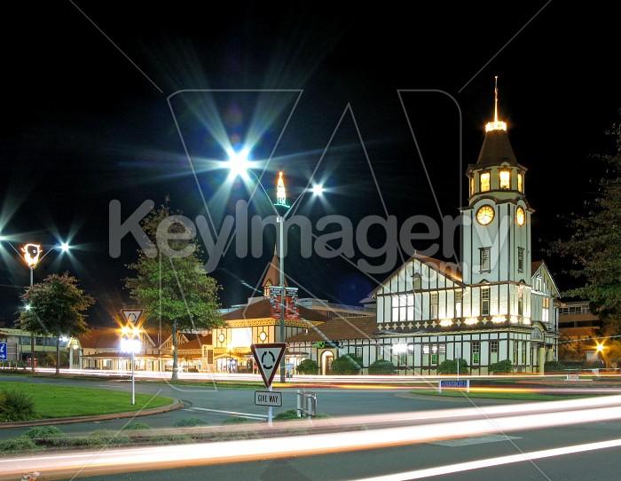Clock tower at night 1 Photo #1469