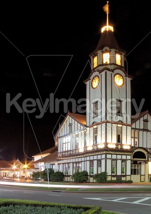 Clock Tower at Night Photo #1463