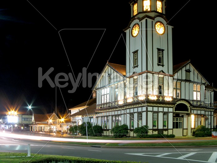 Clock Tower at Night Photo #1464