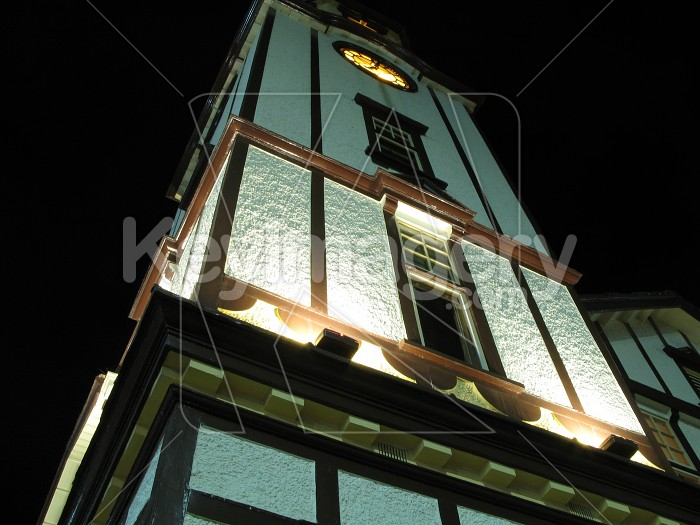 Clock Tower at Night Photo #1465