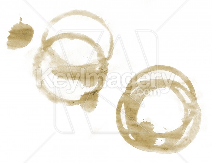 Coffee cup stains on paper Photo #4758