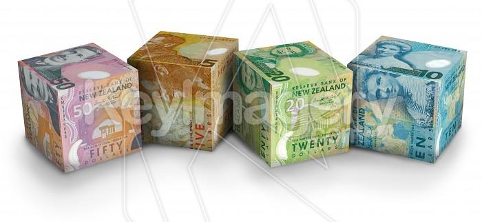 Cubes of NZ Money Photo #12647
