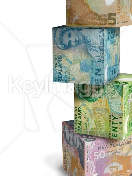 Cubes of NZ Money Photo #12657
