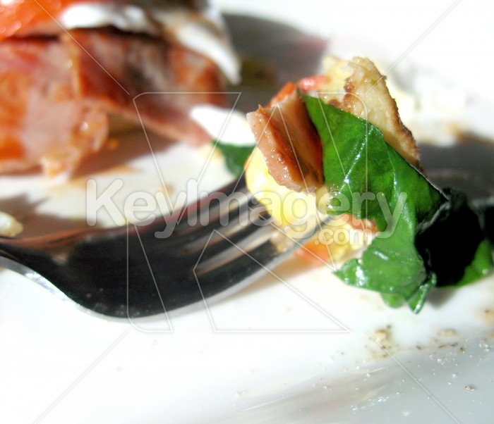 Egg, bacon, spinach and tomato Photo #2248