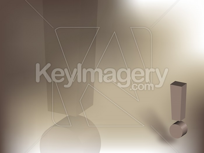 Exclamation Mark Rendering Photo #12652