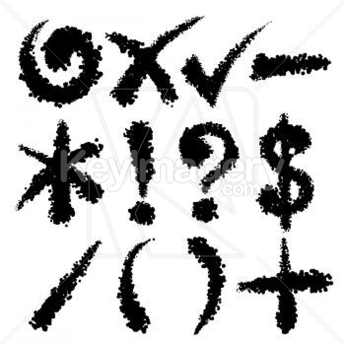Grunge Symbols Illustration #4742