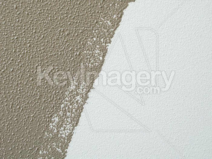 Half painted wall by paint roller Photo #4880