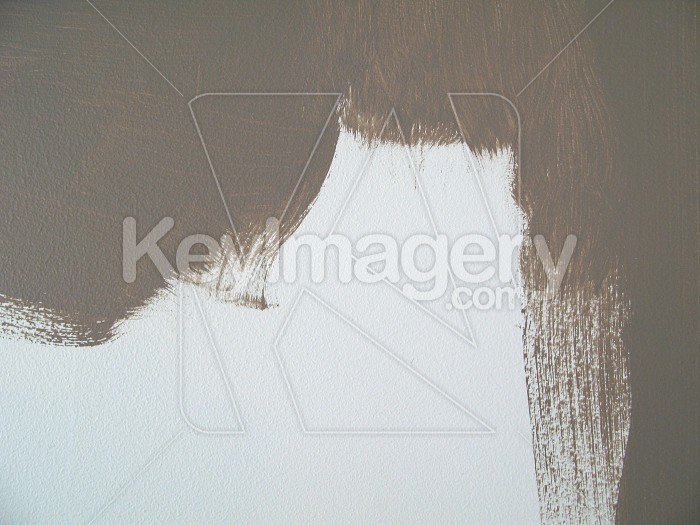 Half painted wall by paintbrush Photo #4877