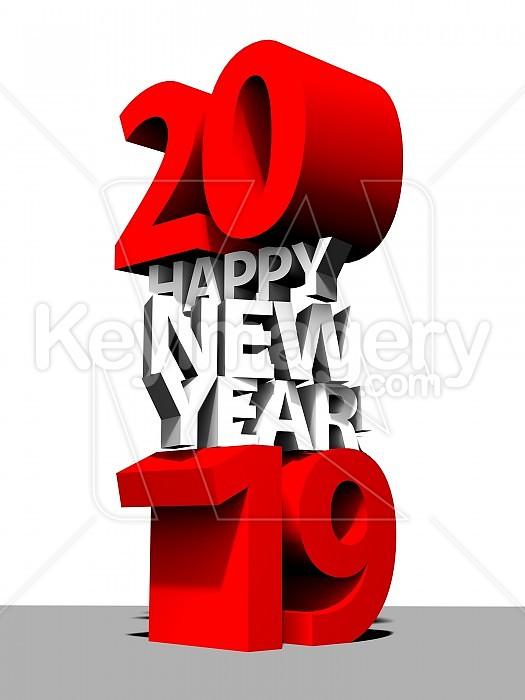 Happy New Year Logo 2019 32