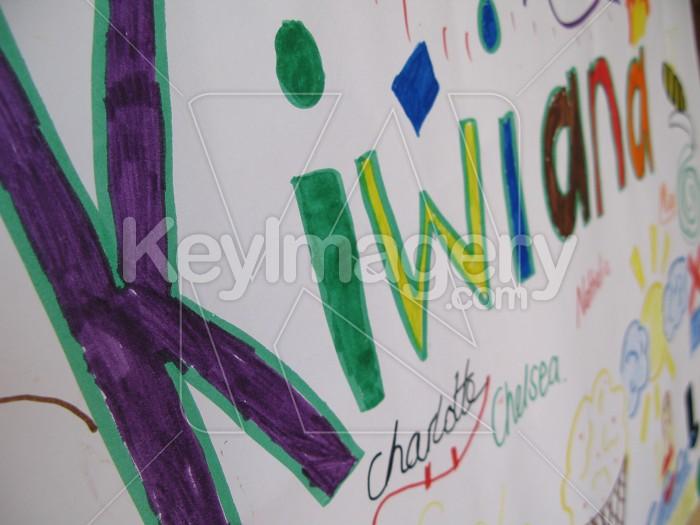 Kiwiana words in kids writing Photo #4616