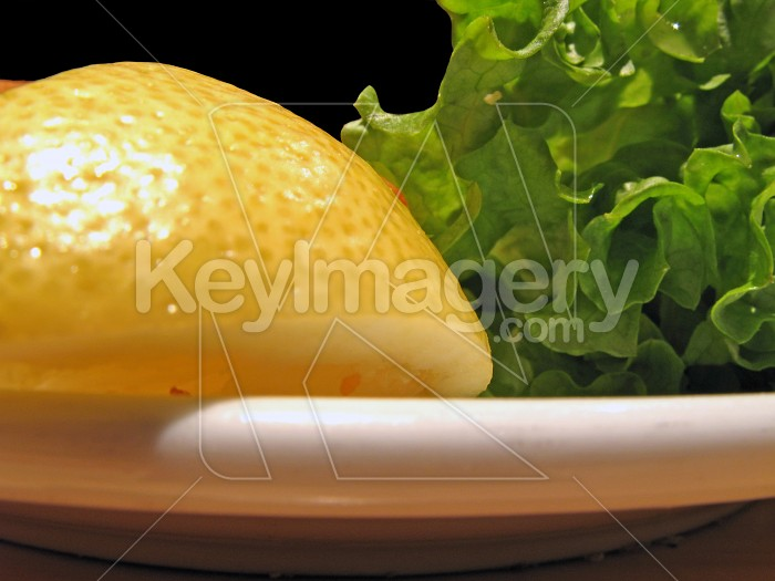 Lemon and lettuce Photo #1471