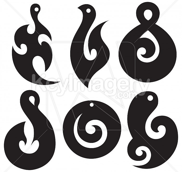 Maori pendant shapes illustration 25217 by mikewalen maori pendant shapes illustration 25217 mozeypictures Gallery