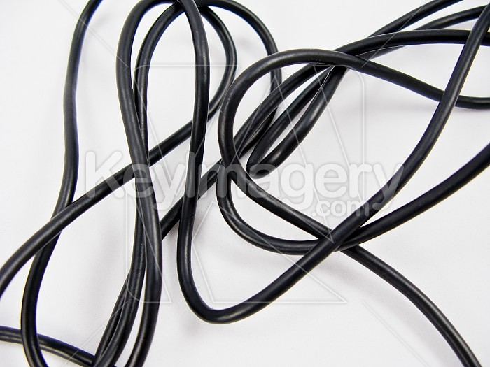 Mess of Black Wires on White Background Photo #16145 by MikeWalen