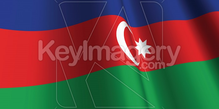 National Flag of Azerbaijan Photo #12825