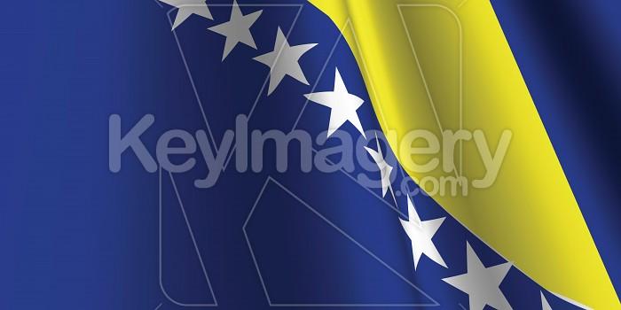 National Flag of Bosnia and Herzegovina Photo #12778