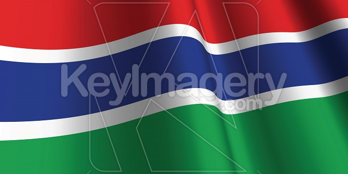 National Flag of Gambia Photo #12863