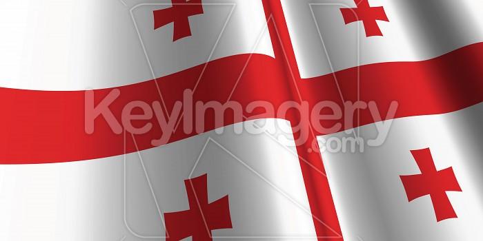 National Flag of Georgia Photo #12828