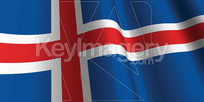 National Flag of Iceland Photo #12791