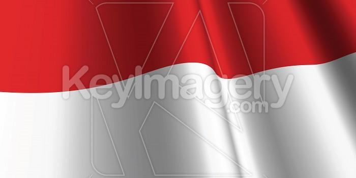 National Flag of Indonesia Photo #12781