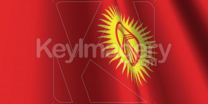 National Flag of Kyrgyzstan Photo #12823