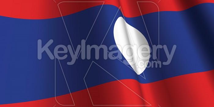 National Flag of Laos Photo #12792