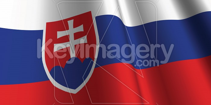 National Flag of Slovakia Photo #12776