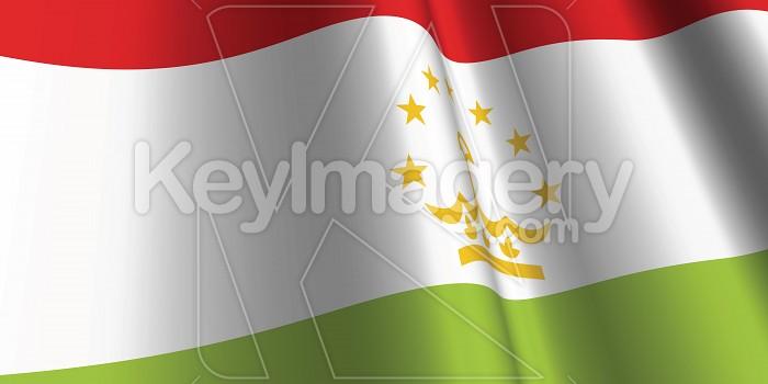 National Flag of Tajikistan Photo #12864