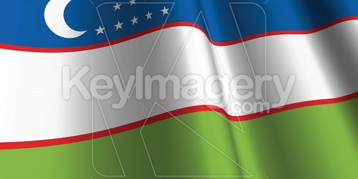 National Flag of Uzbekistan Photo #12814